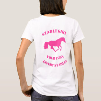 Pink horse or pony riding stables T-Shirt