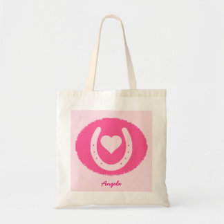 pink Horseshoe and Heart Tote Bag