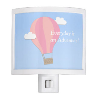 Pink Hot Air Balloon, Adventure Among the Clouds Nite Lite