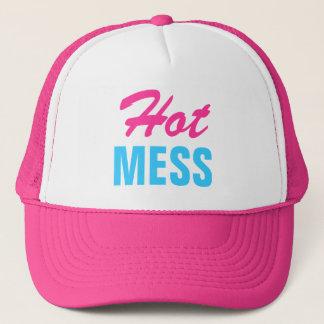 Pink Hot Mess Trucker Hat
