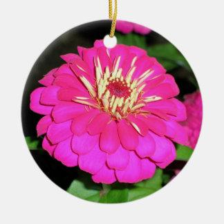 Pink Hot Round Ceramic Ornament