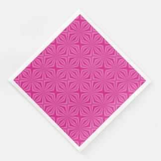 Pink Hot Squiggly Squares Paper Dinner Napkin