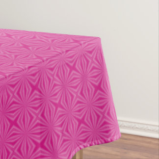 Pink Hot Squiggly Squares Tablecloth
