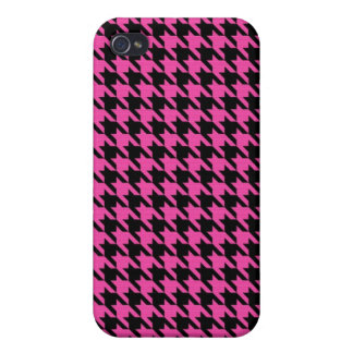 Pink Houndstooth Iphone Case Cases For iPhone 4