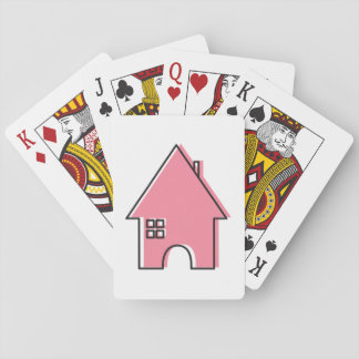 Pink House customizable Realtor playing cards
