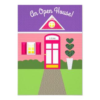 Pink House Facade Open House Invitation