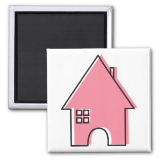 Pink House Magnet