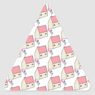 Pink house triangle sticker