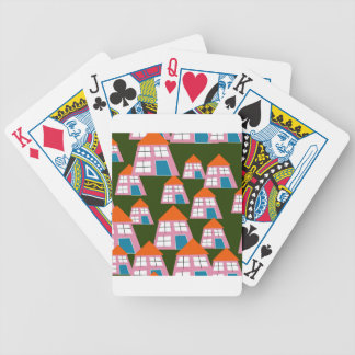 Pink Houses Bicycle Playing Cards