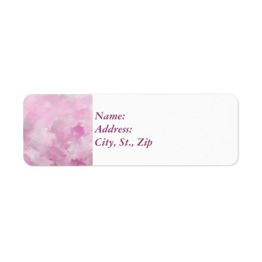 Pink hues return address label