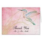 Pink Hummingbird Watercolor Thank You card