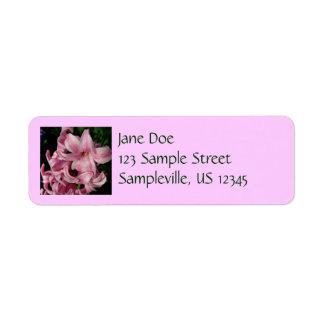 Pink Hyacinth Beautiful Spring Flower Return Address Label