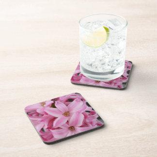 pink hyacinth flower coaster