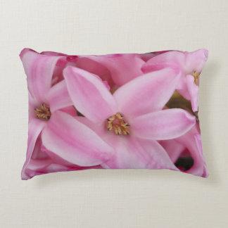 pink hyacinth flower decorative pillow