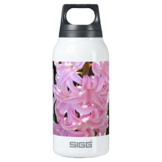 Pink Hyacinth Flowers Insulated Water Bottle
