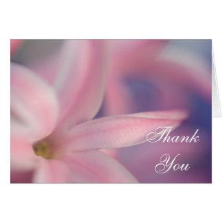 Pink Hyacinth Flowers Wedding Bridesmaid Thank You Card