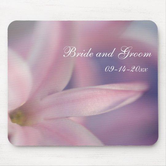 Pink Hyacinth Flowers Wedding Mouse Pad