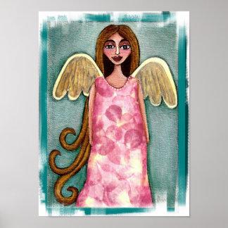 Pink Hydrangea Angel - print