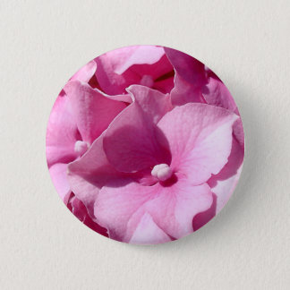 Pink Hydrangea badge/button 2 Inch Round Button
