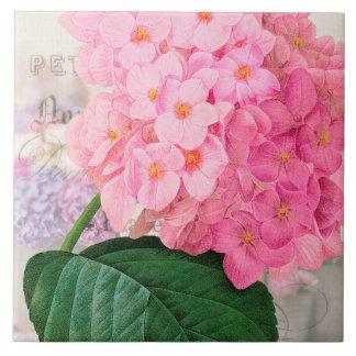 Pink Hydrangea Ceramic Tile