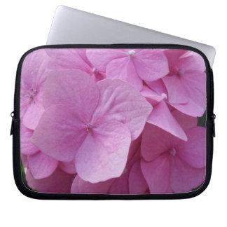 Pink Hydrangea Flower Neoprene Laptop Sleeve10inch Laptop Sleeve