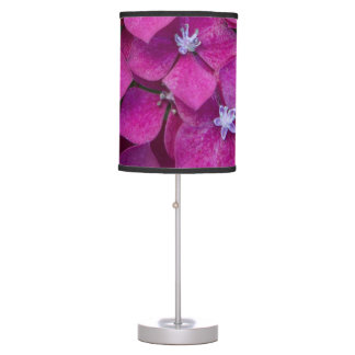 Pink Hydrangea Flowers Desk Lamp