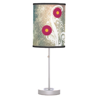 Pink Hydrangea Flowers Vintage Table Lamp