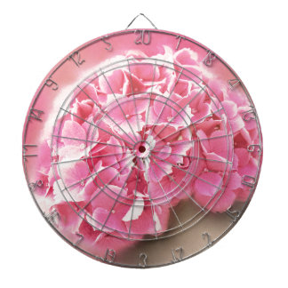 pink hydrangea in bloom dartboard