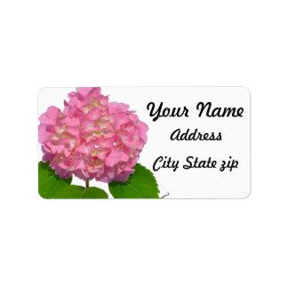 Pink Hydrangea Label