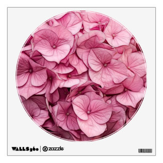 Pink Hydrangea Sketch Wall Decal