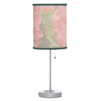 Pink Hydrangeas Desk Lamp