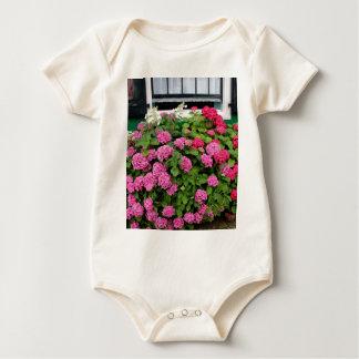 Pink hydrangeas, Holland Baby Bodysuit