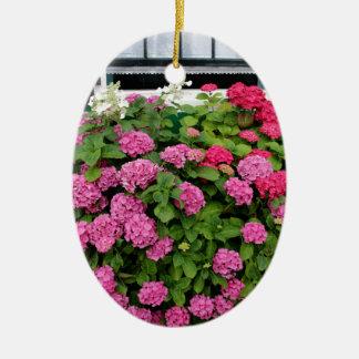 Pink hydrangeas, Holland Ceramic Ornament