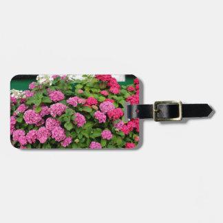 Pink hydrangeas, Holland Luggage Tag