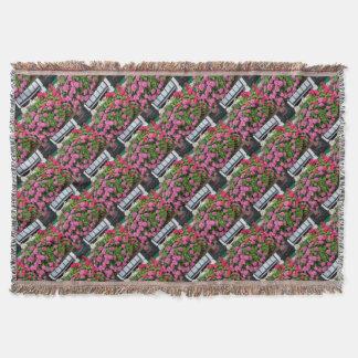 Pink hydrangeas, Holland Throw Blanket