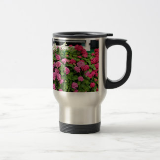 Pink hydrangeas, Holland Travel Mug