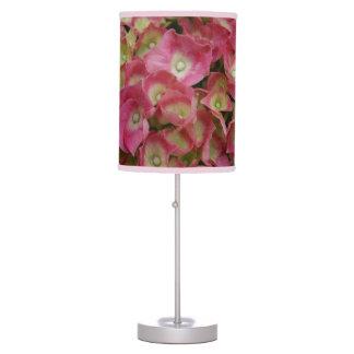 Pink Hydrangeas Table Lamp