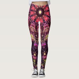 Pink Hypnotic Art Leggings