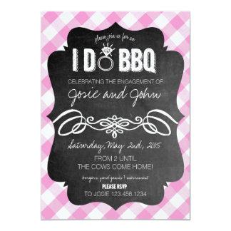 Pink I Do BBQ Invitation