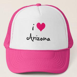 Pink I Love Arizona Hat