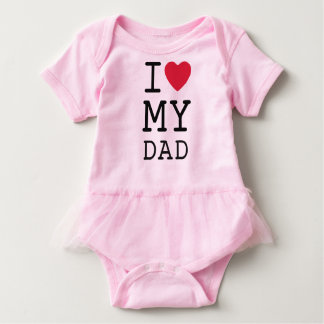 Pink I Love My Dad by Mini Brothers Baby Bodysuit