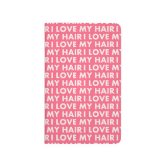 Pink I Love My Hair Bold Text Cutout Journal