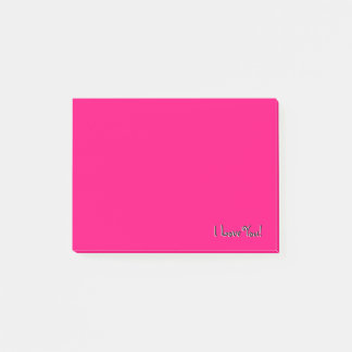 Pink I Love You Post-it Notes