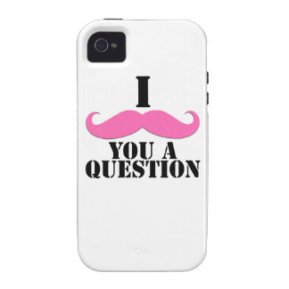 Pink I Moustache You a Question Vibe iPhone 4 Cover