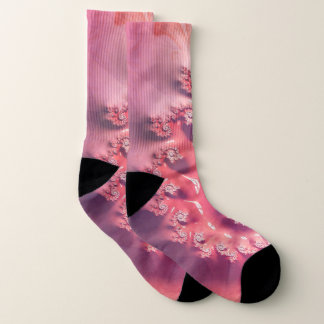 Pink Ice Cream for 21 Flavors of Fibonacci Socks