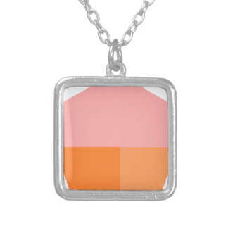 Pink Ice Cream Silver Plated Necklace