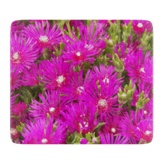 Pink Ice Plants Floral Cutting Board