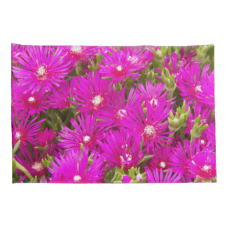 Pink Ice Plants Floral Pillowcase