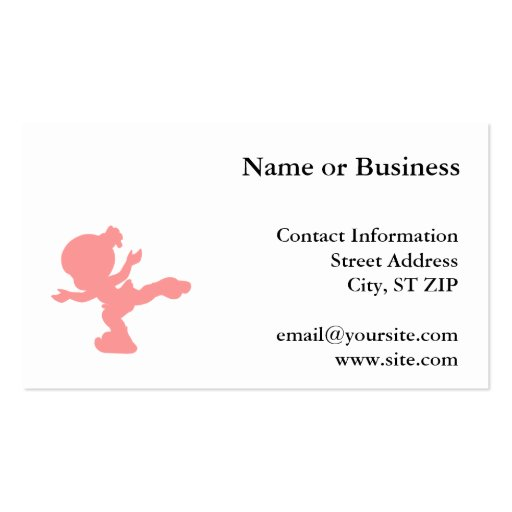 Pink Ice Skating Girl Business Cards