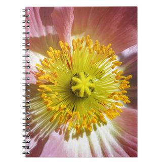 Pink Icelandic Poppy Spiral Notebook